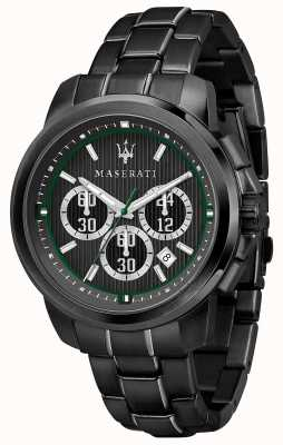 Maserati Royale Chronograph Black Dial Black PVD Plated Steel R8873637004