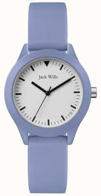 Jack Wills | Ladies Blue Rubber Strap | White Dial | JW008LTBL