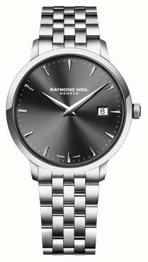 Raymond Weil | Gents Toccata Stainless Steel Bracelet | Black Dial | 5485-ST-20001