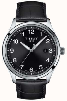 Tissot | Mens XL | Black Dial | Black Leather Strap | T1164101605700