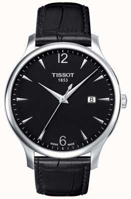 Tissot | Mens Traditional | Black Leather Strap | Black Dial | T0636101605700