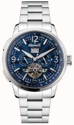 Ingersoll Mens Regent Automatic Stainless Steel Bracelet Blue Dial I00305