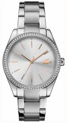 Lacoste Womens Parisienne Stainless Steel Bracelet Silver Dial 2001083