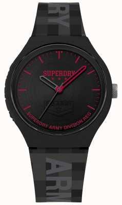 Superdry | Mens Urban XL | Grey Silicone Strap | Black Dial | SYG251B
