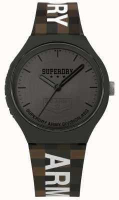 Superdry | Mens Urban XL | Two Tone Silicone Strap | Gunmetal Grey SYG251E