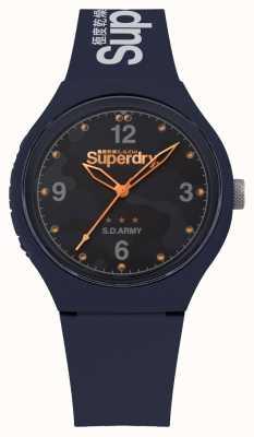 Superdry | Mens Urban XL | Blue Silicone Strap | Blue Dial | SYG254U
