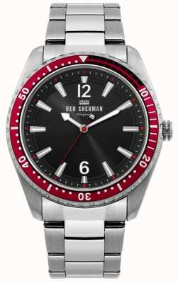 Ben Sherman | Mens Ronnie Diver Watch | Black Sunray Dial | WB037ESM