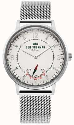 Ben Sherman | Mens Portobello Heritage | Off White Dial | Stainless Mesh WB034SM