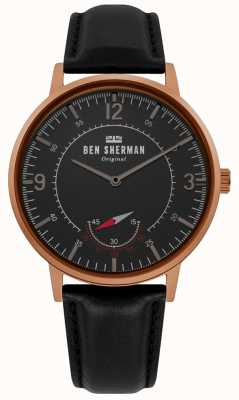 Ben Sherman | Mens Portobello Heritage | Black Dial | Black Leather | WB034B