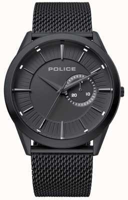 Police | Mens Helder | Black Mesh Strap | Black Dial | 15919JSB/02MM