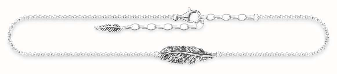 Thomas Sabo Sterling Silver Feather Anklet Ak0013-637-21-l27v