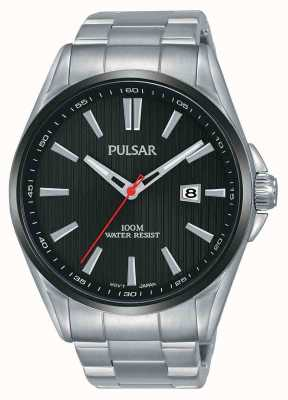 Pulsar | Mens Stainless Steel | Black Dial | PS9605X1