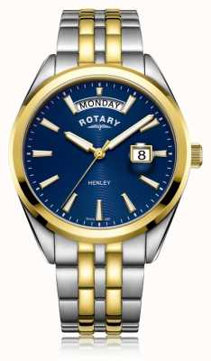 Rotary | Mens Henley | Blue Dial | Stainless Steel Bracelet | GB05291/05