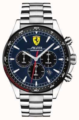 Scuderia Ferrari | Men's Pilota | Stainless Steel Bracelet | Blue Dial | 0830598