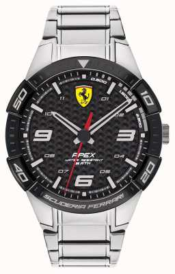 Scuderia Ferrari | Men's Apex | Stainless Steel Bracelet | Black Dial | 0830641