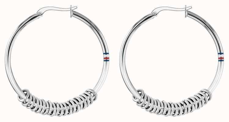 Tommy Hilfiger | Womens Stainless Steel Hoop Earrings | 2780214
