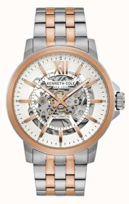 Kenneth Cole | Mens Automatic | Two Tone Stainless Steel | White Dial | KC50779006
