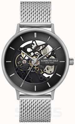 Kenneth Cole | Mens Automatic | Steel Mesh Bracelet | Black Dial | KC50780005