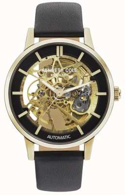 Kenneth Cole | Mens Automatic | Brown Leather | Brown Skeleton Dial | KC50779004