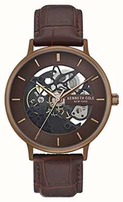 Kenneth Cole | Mens Automatic | Brown Leather Strap | Brown Dial | KC50780002