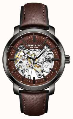 Kenneth Cole | Mens Automatic | Brown Leather | Gun Metal Case | KC50776004