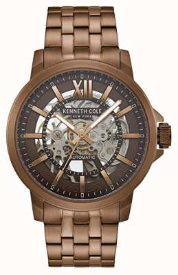 Kenneth Cole | Mens Automatic | Brown Stainless Steel | Brown Dial | KC50779007