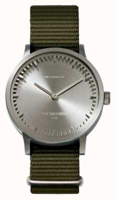 Leff Amsterdam | Tube Watch | T32 | Steel | Green Nato Strap | LT74131