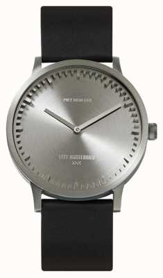 Leff Amsterdam | Tube Watch | T40 | Steel | Black Leather Strap | LT75111