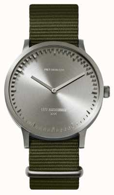 Leff Amsterdam | Tube Watch | T40 | Steel | Green Nato Strap | LT75131