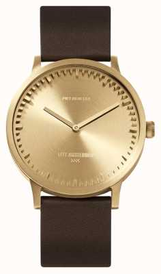 Leff Amsterdam | Tube Watch | T40 | Brass | Brown Leather Strap | LT75323