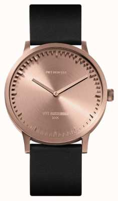 Leff Amsterdam | Tube Watch | T40 | Rose Gold | Black Leather Strap | LT75414