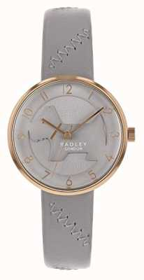 Radley | Womens Grey Leather Strap | Grey Embossed Dog Dial | RY2804