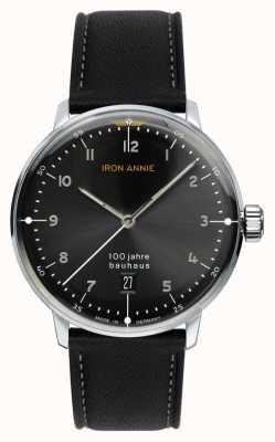 Junkers Iron Annie | Bauhaus | Black Dial | Black Leather Strap 5046-2