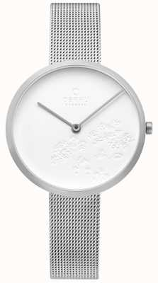Obaku | Womens Hassel Natur Steel | White Dial | Silver Mesh | V219LXCHMC