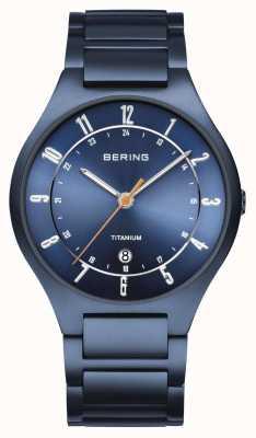 Bering Mens | Titanium | Blue Dial | Blue Bracelet 11739-797
