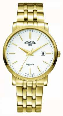 Roamer | Classic Line | Gold Plated Stainless Steel | White Dial | 709856 48 25 70