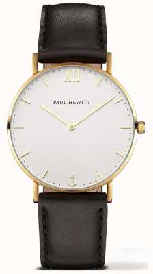 Paul Hewitt | Unisex Sailor Line Watch | Black Leather Strap | 6450854