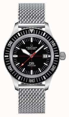 Certina | DS PH200M | Stainless Mesh Bracelet | Black Dial | C0364071105000