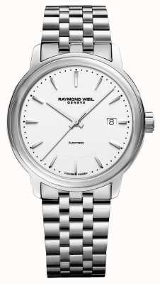 Raymond Weil Mens | Maestro | Automatic | White Dial | Stainless Steel 2237-ST-30011