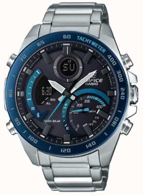Casio | Edifice Bluetooth Solar | Stainless Steel | Blue Accents | ECB-900DB-1BER