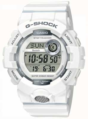 Casio | G-Shock | Sports Watch, Step Tracker | White Rubber Strap GBD-800-7ER