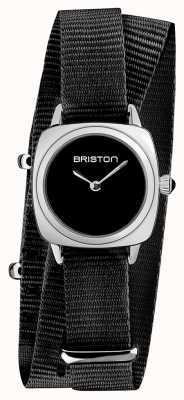 Briston | Clubmaster Lady | Single Black Nato Strap | Black Dial | 19924.S.M.1.NB