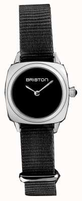 Briston | Clubmaster Lady | Single Black Nato Strap | Black Dial | 19924.S.M.1.NB - SINGLESTRAP
