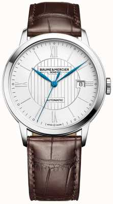 Baume & Mercier | Mens Classima | Automatic | Brown Leather | Silver Dial | M0A10214