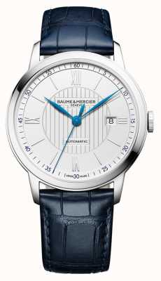 Baume & Mercier | Mens Classima | Automatic | Blue Leather | Silver Dial | M0A10333