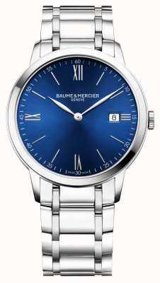 Baume & Mercier | Mens Classima | Stainless Steel Bracelet | Blue Dial | M0A10382