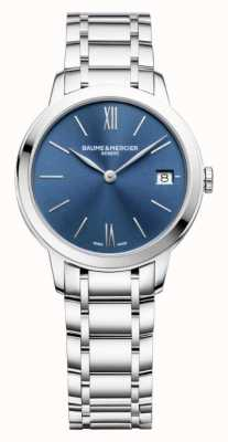 Baume & Mercier | Womens Classima | Stainless Steel | Blue Sunray Dial | BM0A10477