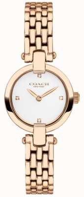 Coach | Womens | Chrystie | Rose Gold PVD Bracelet | White Dial | 14503392