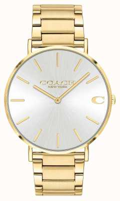 Coach | Mens | Charles | Gold PVD Bracelet | Silver Dial | 14602430