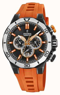 Festina Chrono Bike 2019 | Orange Rubber Strap | Black Dial F20450/2
